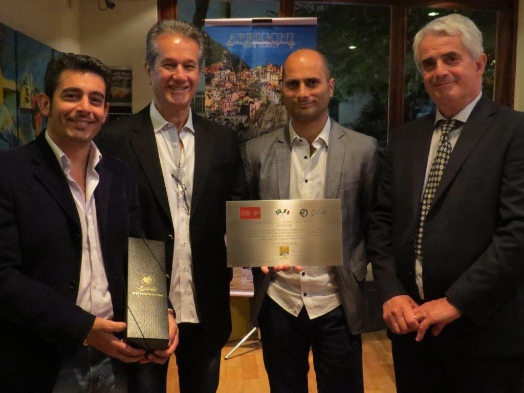 Peluso and Pedroni with Andrea and Riccardo Arrigoni