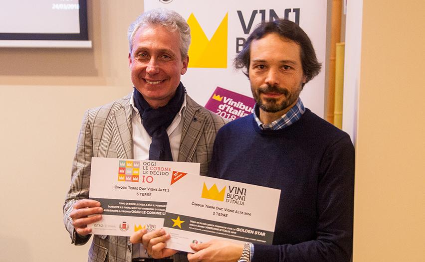 Daniele Bartolozzi e Gianfranco Vita a rappresentare la Coop. Cinque Terre