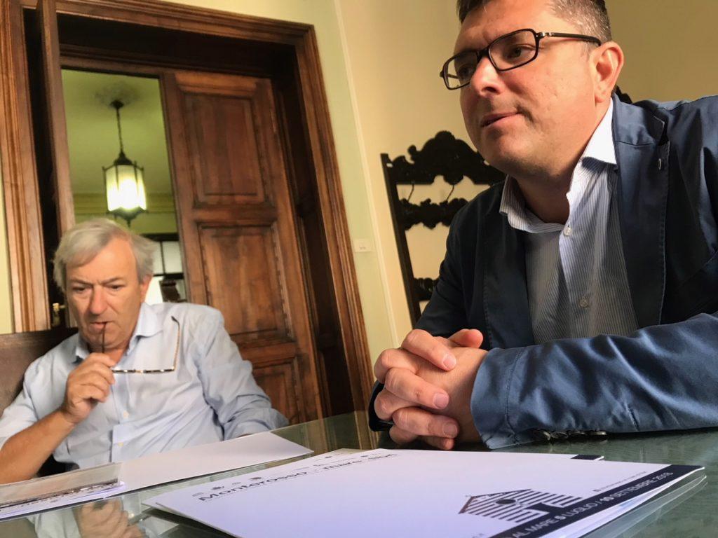 Marco Ferrari e il sindaco di Monterosso Emanuele Moggia