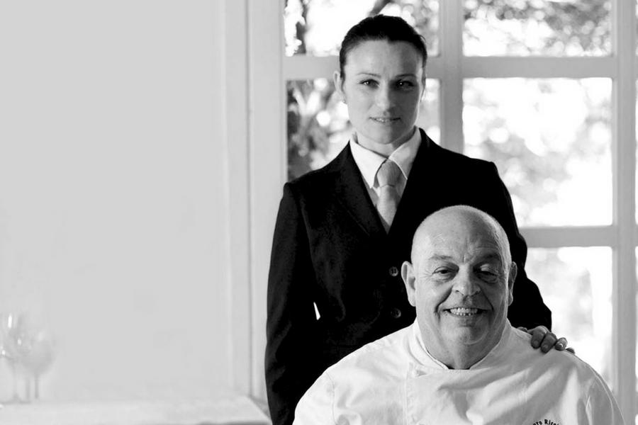 Lo chef Mauro Ricciardi con la maître Paola Bacigalupo