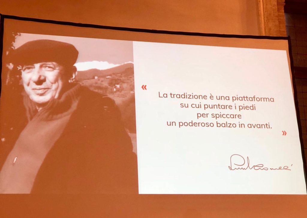 Una delle slide proiettate durante la premiazione