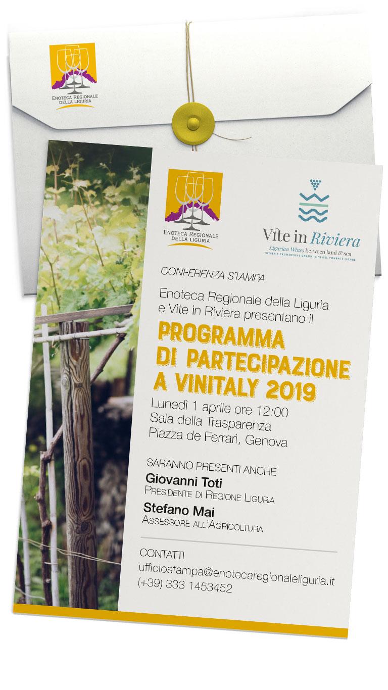 """Invito alla conferenza di presentazione """"Liguria a Vinitaly"""""""