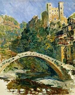 Il ponte di Dolceacqua e il Castello dei Doria dipinti da Monet