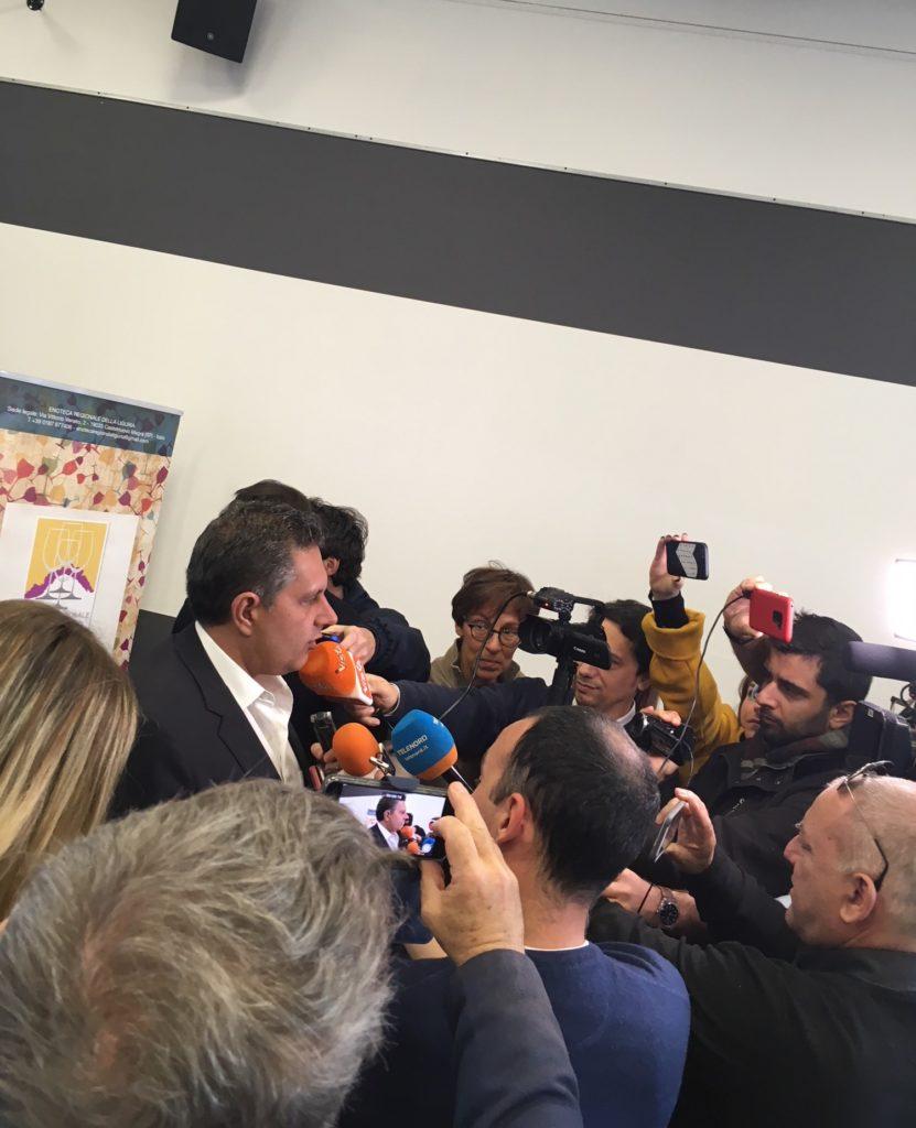 Un altro momento dell conferenza stampa di Enoteca ligure a Vinitaly