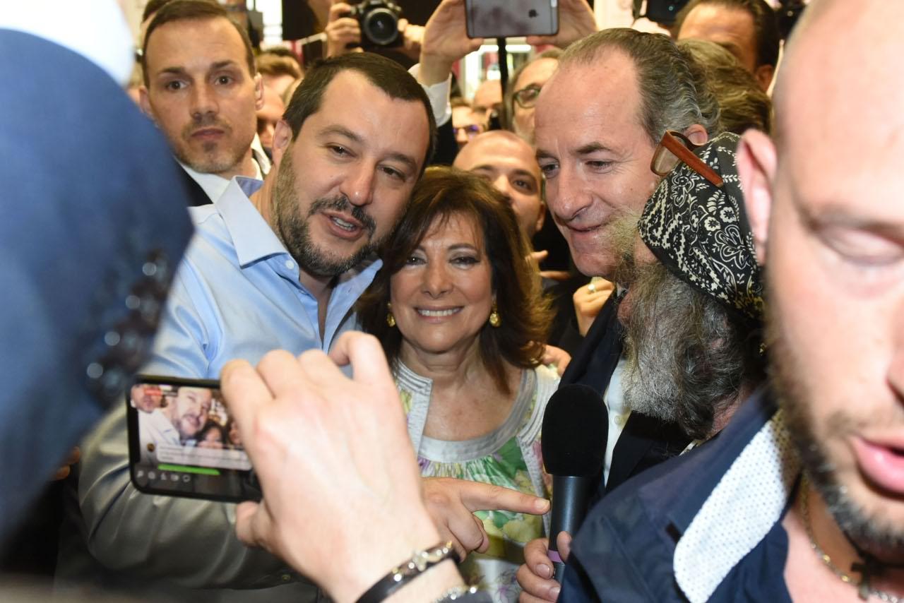 Matteo Salvini, Ministro degli Interni e Maria Elisabetta Alberti Casellati, presidente del Senato
