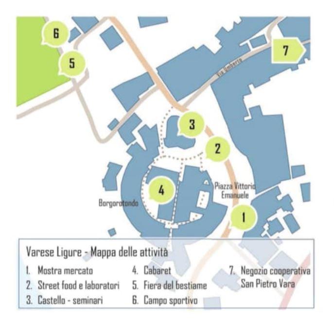 La Mappa di Varese con gli eventi del ValleBio Festival