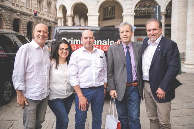 Da sinistra, Giulio Cautadella, Simona Venni, Flavio Corazza, Umberto Curti, Marco Rezzano_foto di Giulia Laddaga