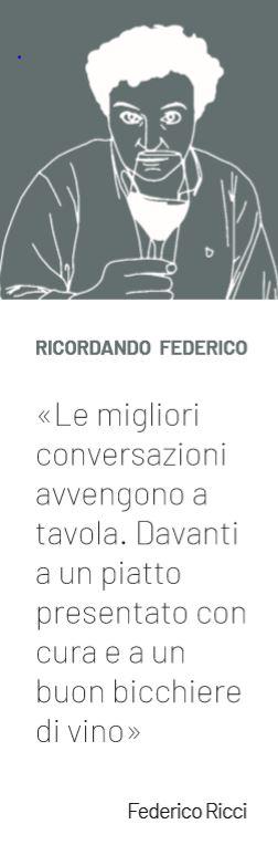 Il segnalibro dedicato a Federico Ricci e realizzato per l'occasione