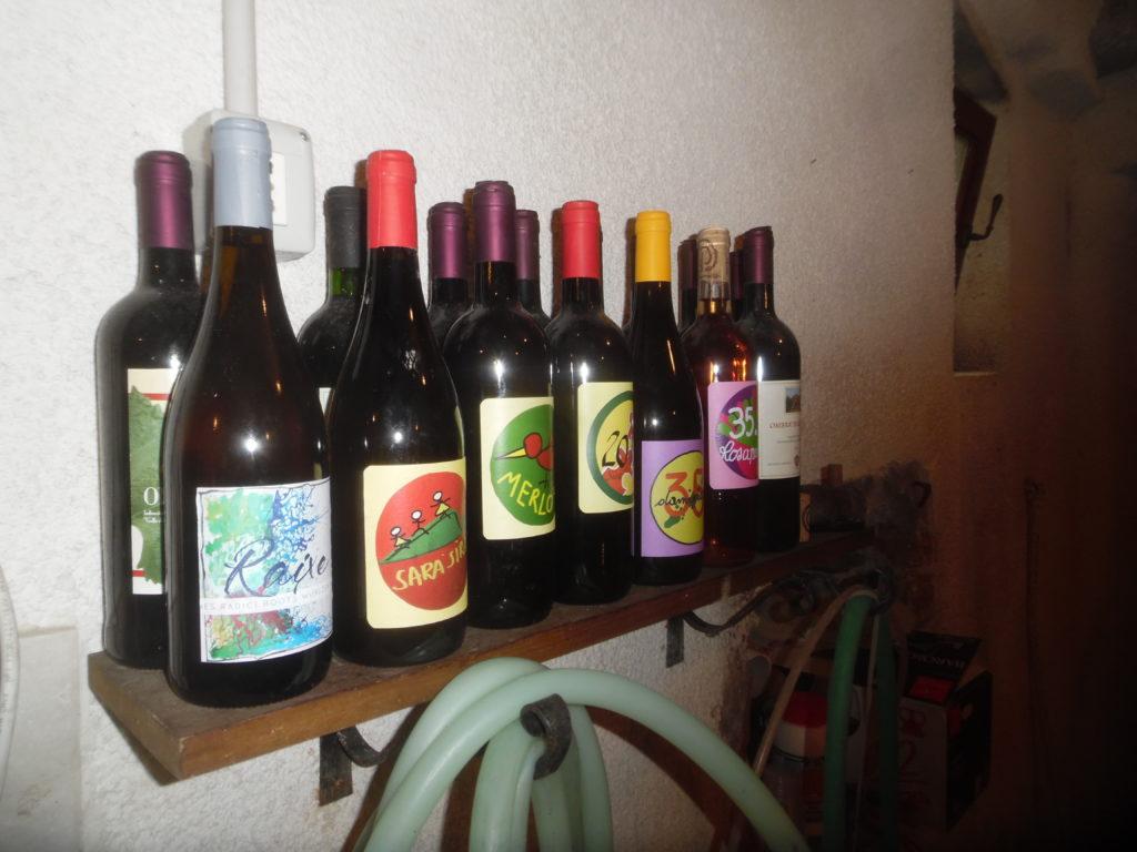 Alcune bottiglie dell'azienda